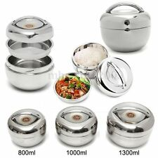 800-1300ml Stainless Steel Bento Box Food Container Thermal Insulation Lunch Box