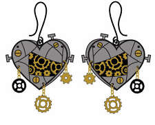 Too Fast Steampunk Earrings Gothic Victorian Lolita Emo Rockabilly Tattoo Pinup