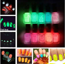 Multi Candy Color Fluorescent Neon Luminous Nail Art Polish Glow In Dark Varnish