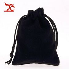 Wholesale Portable Black Velvet Drawstring Jewelry Gift Bag Pouch Store Supply