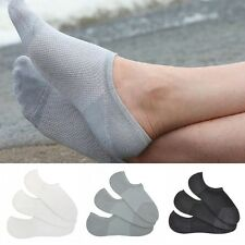 Fashion 3 Pairs Men Loafer Boat No Show Nonslip Liner Low Cut Cotton Socks