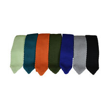 Kids Tie Textured Knit Youth Necktie Formal Teen Boy's Wedding Neck Tie