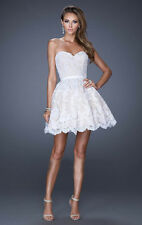 Short/Mini Cocktail Formal Party Ball Gown Bridesmaid Evening Prom Dresses Lace