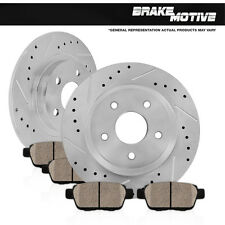 REAR DRILLED SLOTTED BRAKE ROTORS AND PADS 2001 2002 2003 Toyota Highlander 2WD