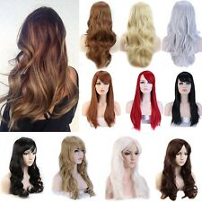 Top Sale Ladies Natural Hair Long Straight Full Wigs Daily Party Wig Cap Mermaid