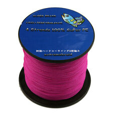 Pro New 4Plys 100%PE Dyneema Spectra Extreme Braid Fishing Line 100-1000M Pink