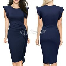 Women Summer Sleeveless Slim Business Evening Party Cocktail Casual Pencil Dress