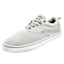 Russell Athletic Oxford Lace Classic Casual Canvas Plimsoll Pumps Trainers Grey