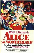 Vintage Alice In Wonderland Movie Poster A3/A2/A1 Print