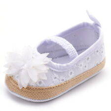 Infant Baby Toddler Girls Shoes Slip-on Flower Floral Cotton Mary Janes US 3 4 5