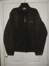 Columbia Brown Fleece Jacket  Zip-Embroidered  Size M & XL & XXL  MEN'S L@@K