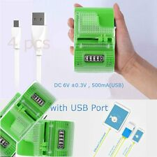 4 X LCD Universal Mobile Cell Phone Camera Wall Travel Battery Charger&USB Port