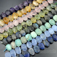 """14x20mm Natural Gemstone Faceted Nugget Beads 7.5"""""""