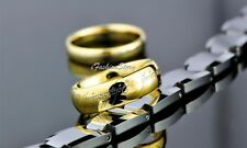 "NEW Lord of the Rings  ""The One Ring"" Titanium Steel 8MM  Gold Rings LOTR"