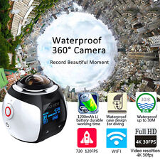 360° Mini WiFi HD 2448P 30fps Sports Action DV Waterproof Panoramic Video Camera