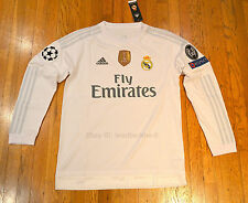 Real Madrid Home White Jersey Long Sleeve Ronaldo Ramos James Bale