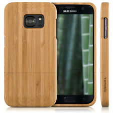 kwmobile BAMBOO COVER FOR SAMSUNG GALAXY S7 CASE WOOD BACK HARD SHELL BUMPER