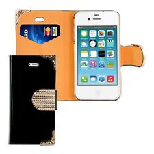 kwmobile WALLET SYNTHETIC LEATHER CASE FOR APPLE IPHONE 4 / 4S COVER STAND