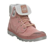 PALLADIUM 92478 635 BAGGY Wmn's (M) Old Rose Canvas Casual Ankle Boots