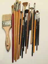 Vintage Artist Paint Brushes Lot of 20 for painting artists