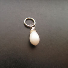 White Coral Wire Wrapped Gemstone with Jump Ring Interchangeable Pendant