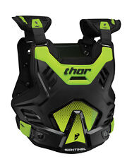 THOR MX Motocross SENTINEL GP Chest Protector/Roost Guard (Blk/Grn) Choose Size
