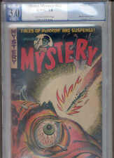 """MISTER MYSTERY 12 PGX 3.0 (""""Classic"""" pre-Code horror Injury-to-Eye by Baily !)"""