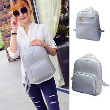 New Women's Girl Backpack Travel PU Leather Handbag Rucksack Shoulder School Bag