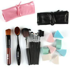 7 Pc Makeup Powder Brush Sponge Puff Toothbrush Shaped Foundation Oval Brush Set