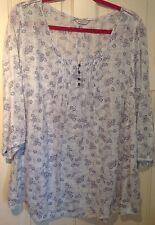 MARKS AND SPENCER 'indigo' ladies tunic top - size 22