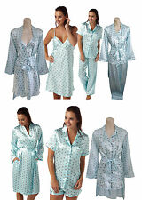 Ladies Satin Chemise Nighty Nightdress PJs Pyjamas Wrap Size 10 12 14 16 18 NEW