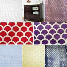Soft modern minky change table cover in white, red, purple, blue, yellow