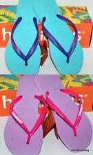 HAVAIANAS NEW SLIM LADIES THONGS FLIP FLOPS POP UP Lilac Pink, Ice Blue Purple