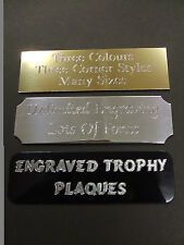 ENGRAVED TROPHY AWARD PLAQUE 50 x 25MM PLATE PICTURE FILMCELLS SELF ADHESIVE