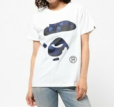 A BATHING APE COLOR CAMO APE FACE TEE Print 8 colors Womens T-shirt From Japan