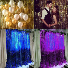 1/2/3m Metallic Tinsel Curtain Foil Party Christmas Shiny String Door Decoration