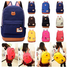 Womens Bags Backpack School Fashion Shoulder Bag Rucksack Canvas GYM Travel Bags