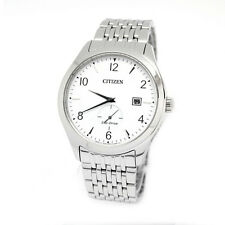 Citizen Analog Business Mens ECO-DRIVE  Silver JAPAN Watch BV1100-55A