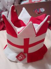 New. England Jester Hat with Bells Adult One Size St George flag. Olympics