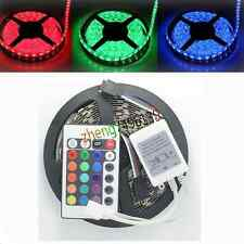 5M SMD 5050 RGB 300LEDS Non-Waterproof Light Strip + 24Keys IR controller
