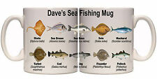 SEA FISHING SPECIES PERSONALISED MUG WITH NAME (SP11) 11oz & 15oz MUGS