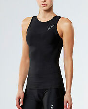 NEW 2XU Elite Compression Tri Singlet Womens Shirts