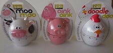 Joie Kitchen Tools Gadget Timer Cow, Pig, Rooster Cooking 60 Min/1 Hour Wind Up