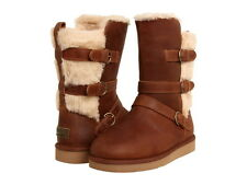 """UGG AUSTRALIA WOMENS BOOTS """"BECKET"""" NIB CHESTNUT SUEDE VARIOUS SIZES FREE SHIP"""