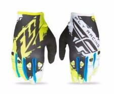 2017 FLY RACING KINETIC MOTO GLOVES MX ATV BMX GLOVE BLACK/LIME MENS SIZE