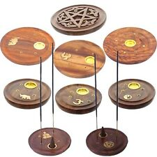 Incense Cone/Stick Plate Holder Ash Catcher Pentagram Buddha Om Star Yin Yang