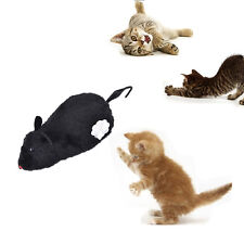 Wind Up Funny Running Mouse Rat Move Tail Cat Kitten Prank Toy Joking Gag