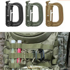 Tactical Grimloc Safety Safe Buckle MOLLE Locking D-ring Carabiner Climbing GR