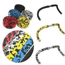 2x Road Bike Bicycle Cycle Cork Handlebar Bar Grip Wrap Tape with 2 Bar Plugs TM