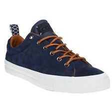 New Mens Converse Blue Star Player Premium Suede Ox Trainers Plimsolls Lace Up